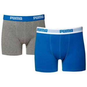 PUMA Lot de deux Boxers Basic Enfants, Bleu/Gris, Taille 164, Vêtements