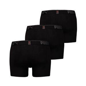 PUMA Lots de 3 boxers Lifestyle en coton suédé pour Homme, Noir, Taille XXL, Vêtements