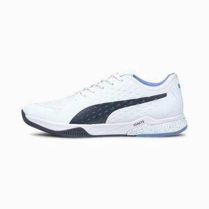 PUMA Chaussure de sport Explode 1 Indoor, Blanc/Bleu, Taille 37.5, Chaussures - Publicité