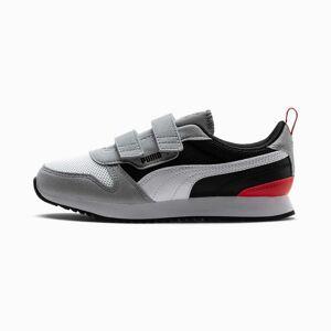 PUMA Chaussure Basket R78 Kids pour Enfant, Blanc/Noir/Gris, Taille 31, Chaussures - Publicité