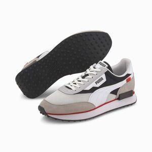 PUMA Chaussure Basket Future Rider, Blanc/Noir, Taille 45, Chaussures - Publicité