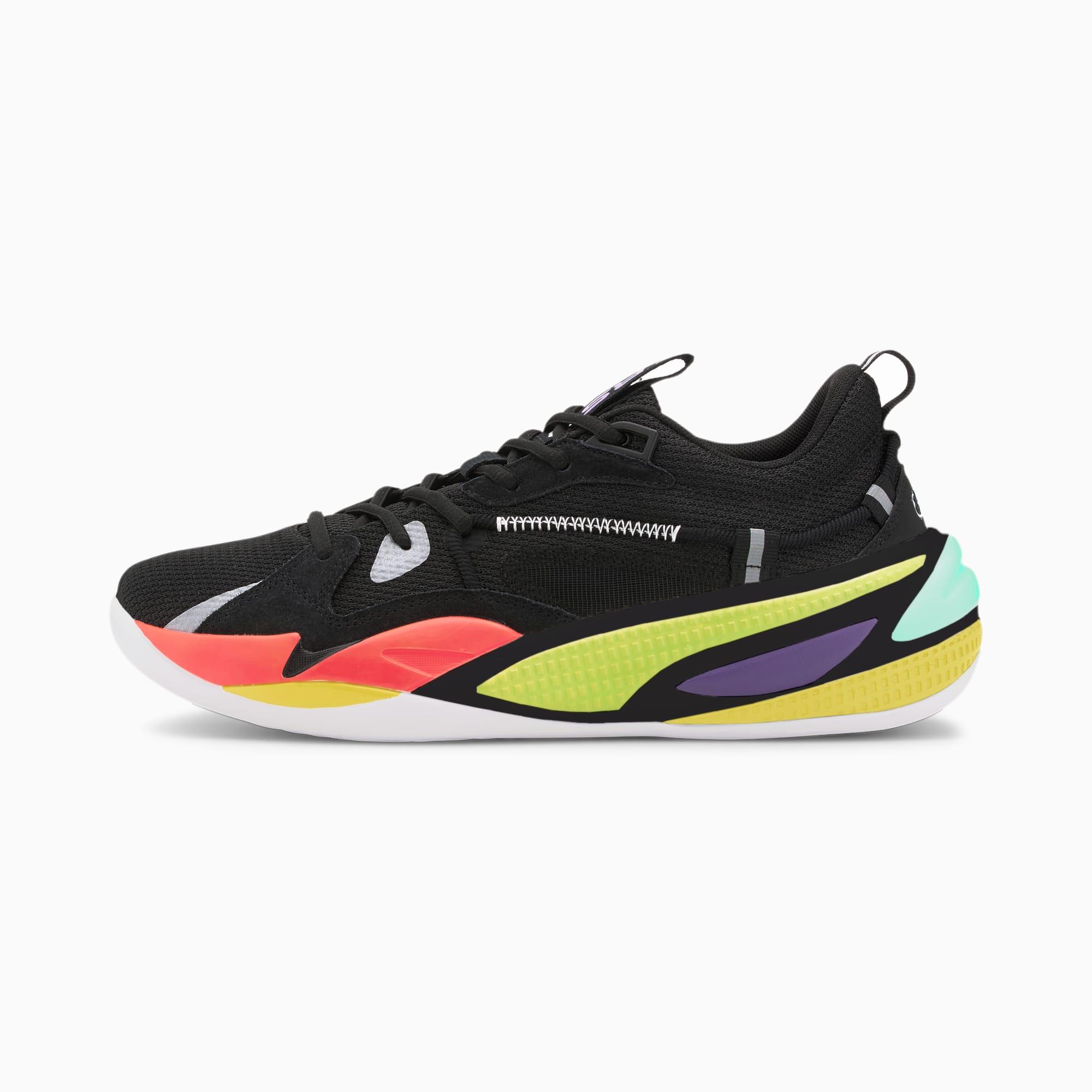 PUMA Chaussure de basket RS-Dreamer Proto, Noir/Rouge, Taille 42, Chaussures