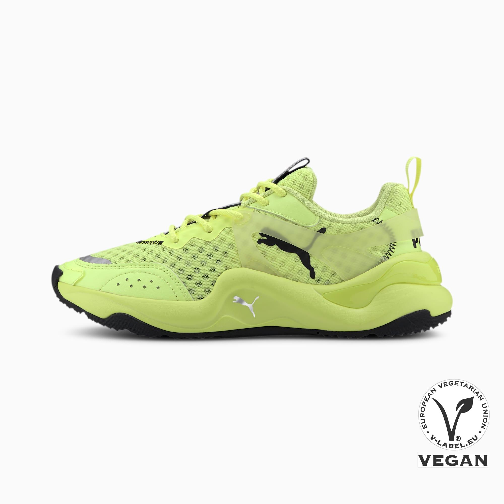 PUMA Chaussure Basket Rise Neon pour Femme, Jaune, Taille 38, Chaussures