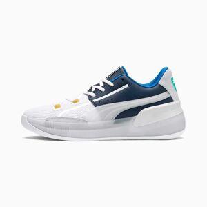 PUMA Chaussure de basket Clyde Hardwood Retro pour Homme, Bleu/Rose, Taille 49.5, Chaussures