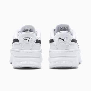 PUMA Chaussure Basket Deva en cuir pour Femme, Blanc/Noir, Taille 40.5, Chaussures - Publicité