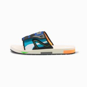 PUMA Sandales Mirage Mox, Blanc/Bleu/Noir, Taille 43, Chaussures - Publicité