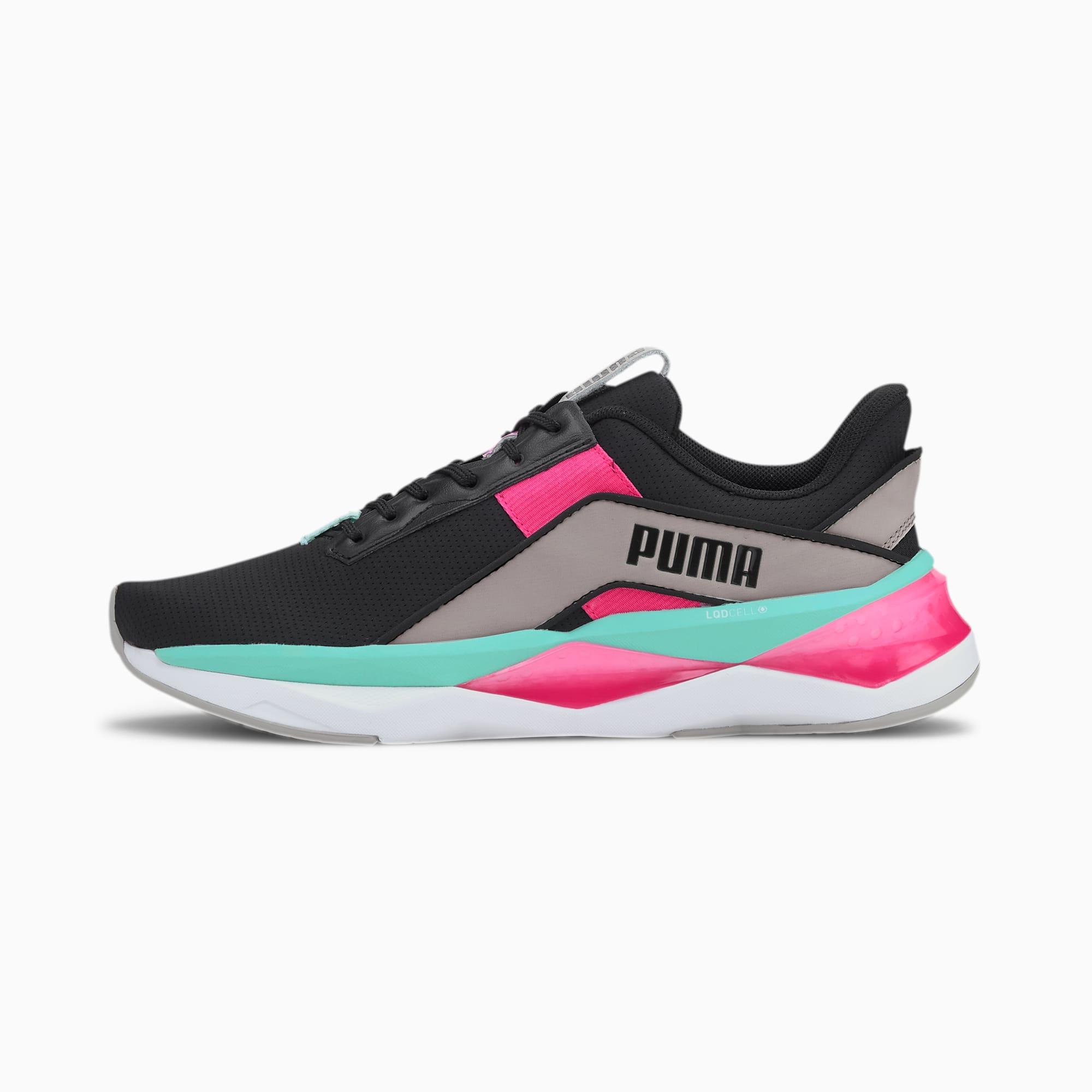 PUMA Chaussures de sport LQDCELL Shatter XT Geo femme, Noir/Gris, Taille 35.5, Chaussures