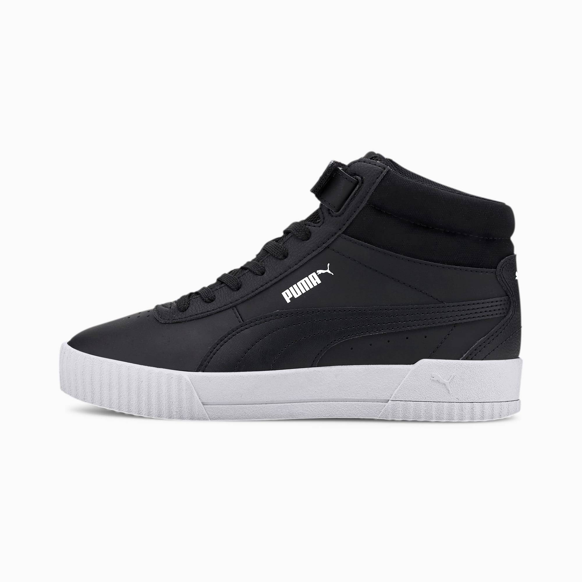 PUMA Chaussure Basket montante Carina femme, Noir, Taille 38.5, Chaussures