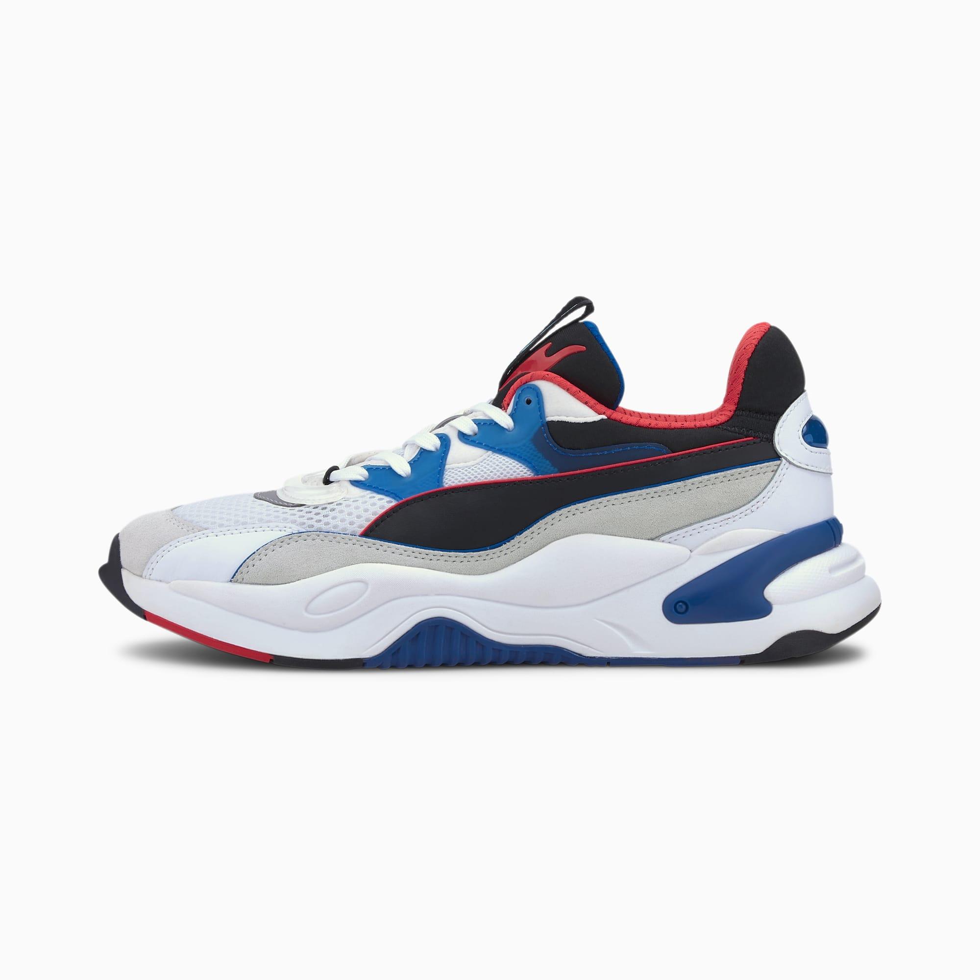 PUMA Chaussure Basket RS-2K Internet Exploring, Blanc/Bleu, Taille 36, Chaussures