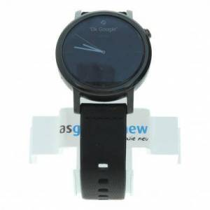 Motorola Moto 360 (2nd Gen)- boîtier en acier inoxydable noir 42mm - bracelet en cuir noir reconditionné - Publicité