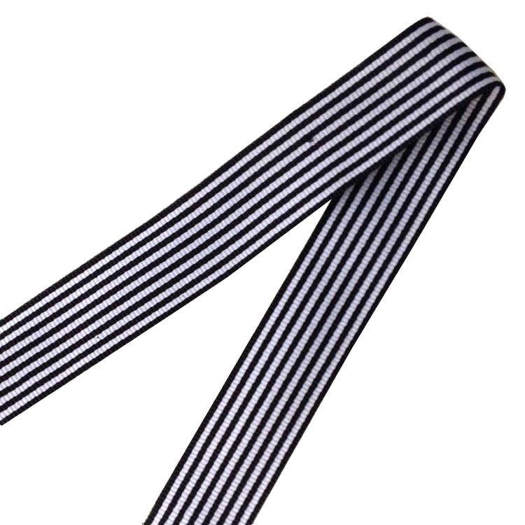 WT07 Offre Spéciale pinstripe ou striola de ruban rayé noir et blanc bande