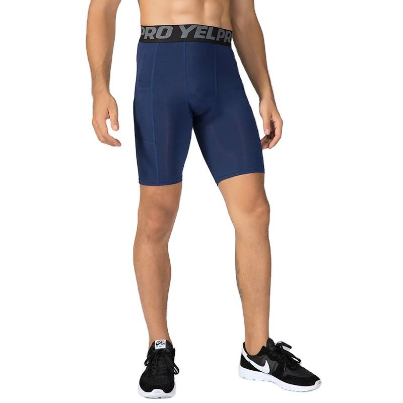 Pantalons de sport courts en Polyester pour hommes   Vêtements d'entraînement à domicile personnalisés en gros
