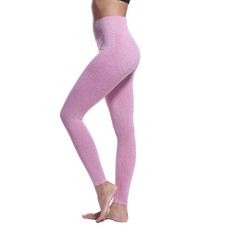 Nouveau Processus Leggings Sans Couture Sport Fitness Femmes Taille Haute Sport Leggings De Yoga Pantalons De Yoga Écologique