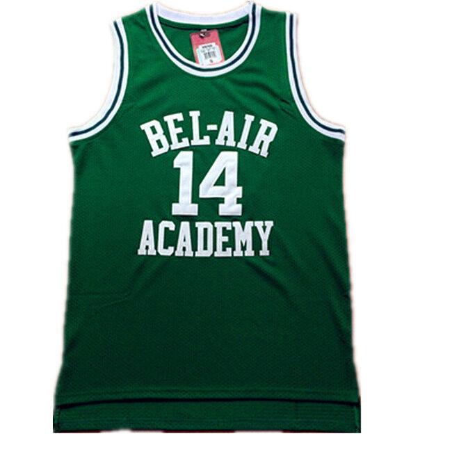 Maillots de basketball pour film   Couleur verte personnalisée #14 #25, livraison gratuite