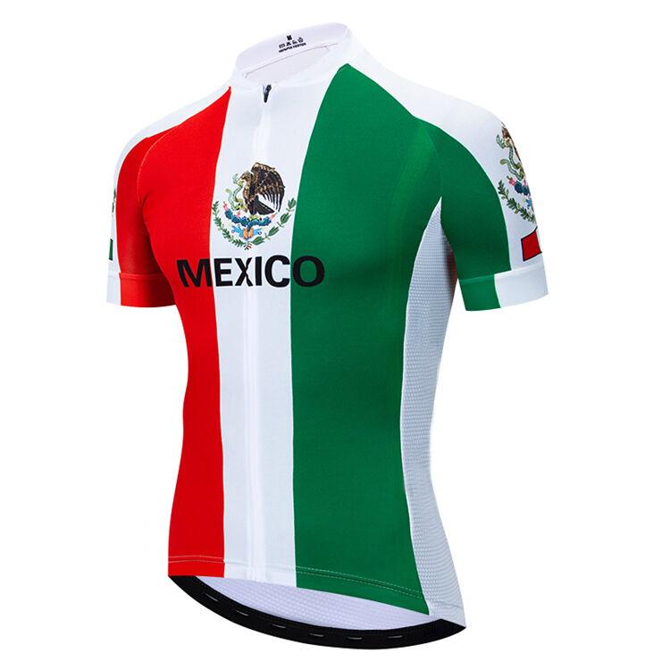Offres Spéciales Mexique Haute Performance Personnalisé Sublimé hommes Anti-uv Maillot de Cyclisme Spécialisé Cyclisme Vêtements