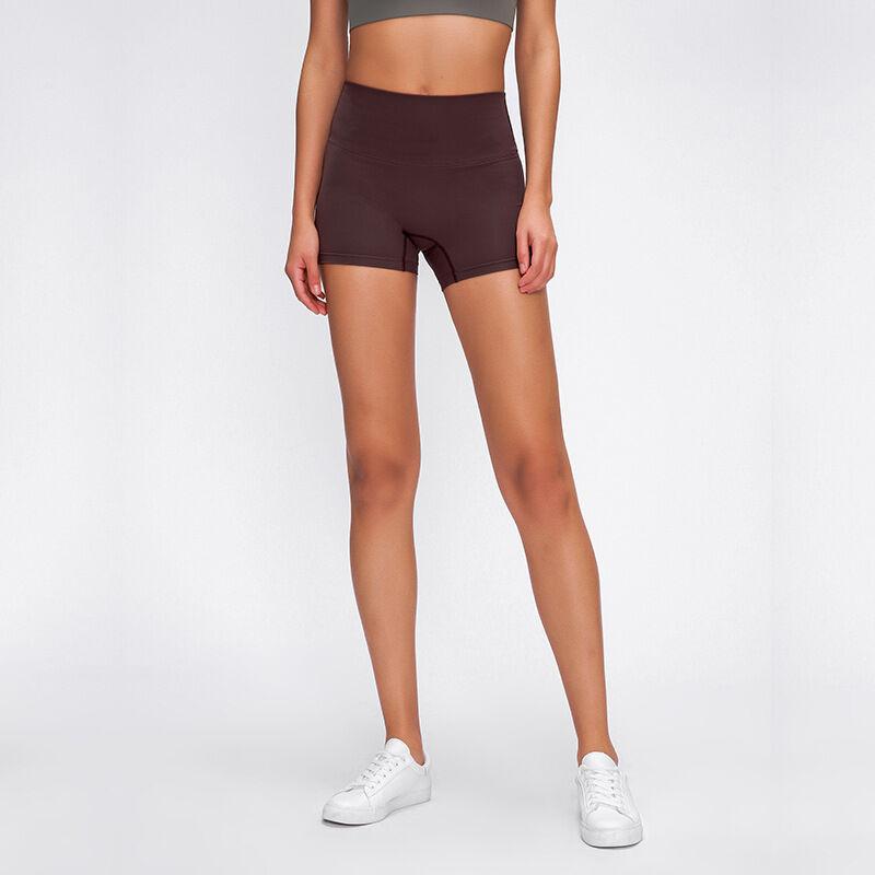Short de Yoga pour femmes   Nouveau, printemps et été 2020, short de Yoga de ligne libre, en tissu Double brossé, course sexy d'entraînement