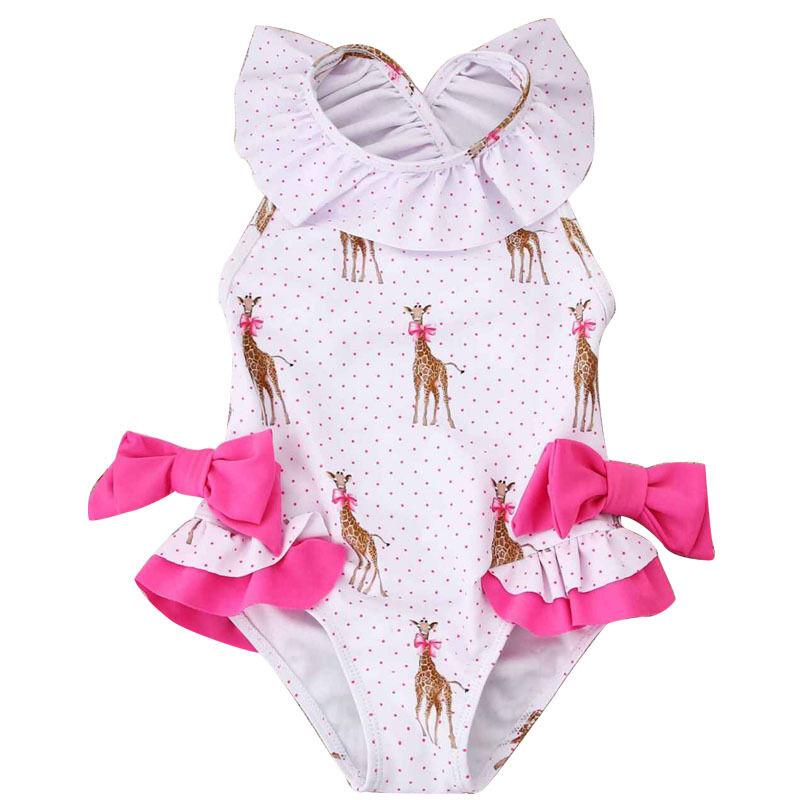 Populaire maillot de bain pour filles en Europe et le bébé mignon princesse costume maillot de bain une pièce pour filles