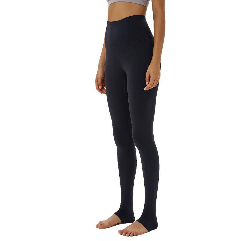 Gros femme taille haute hanche fesses leggings élastique en cours d'exécution était mince étape sur un pantalon de yoga