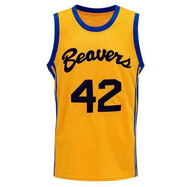Livraison gratuite personnalisé couleur jaune #42 S Howard cousu film jersey