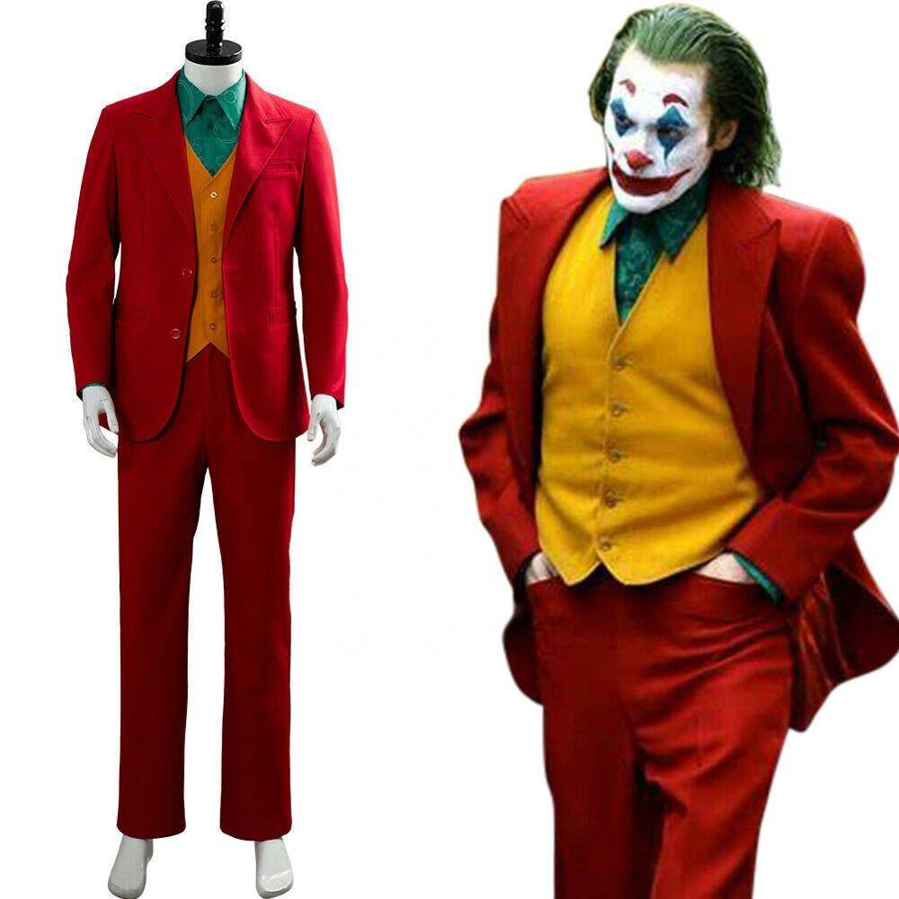 Joker costume de cosplay costume de danseur d'air à vendre nez de clown