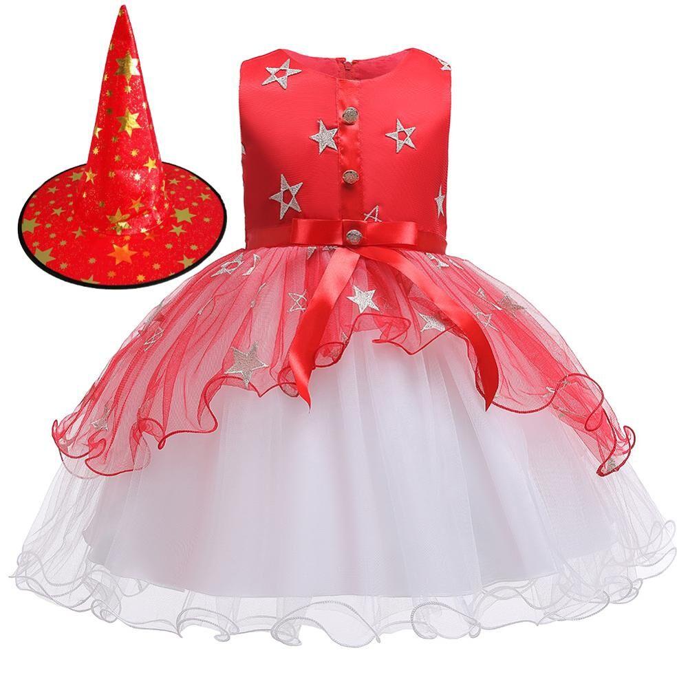 Enfants Sorcières Halloween Costumes With Magique Chapeaux Livraison Gratuite Enfants Enfants Halloween Robe De Soirée Pour L'exécution D'étape