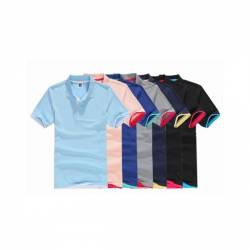 En gros 65% Coton 35% polyester 195g Polo Personnalisé Logo Personnalisé Blanc Polos Chemise
