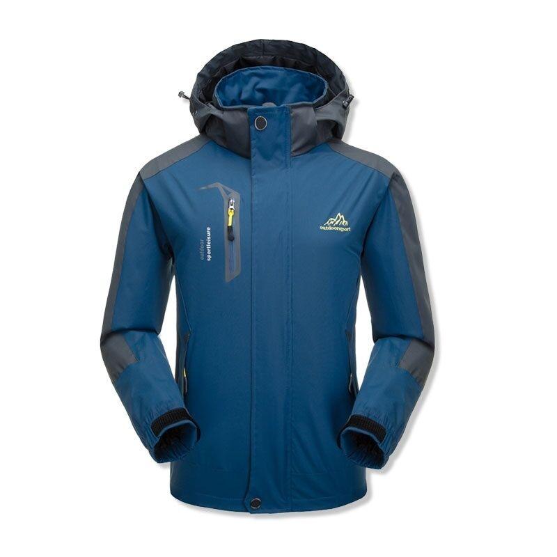 Livraison Gratuite Étanche Coupe-Vent Décontracté vêtements de Sport En Plein Air Manteaux Hoodies Hommes Veste