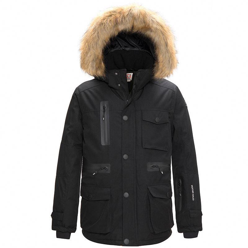 Doudoune longue à capuche pour hommes   Manteau épais en duvet, Parka rembourrée, livraison gratuite
