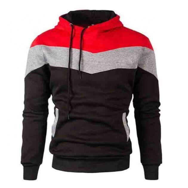 Pas cher En Gros Sport Personnalisé Outwear Couleur Bloc XXL Pull À Capuche Sweat-Shirts Hommes Sportswear