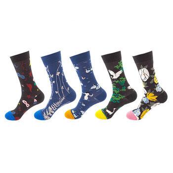 Plus récent mode motif joyeux extérieur chaussettes pour femmes hommes chaussettes drôles