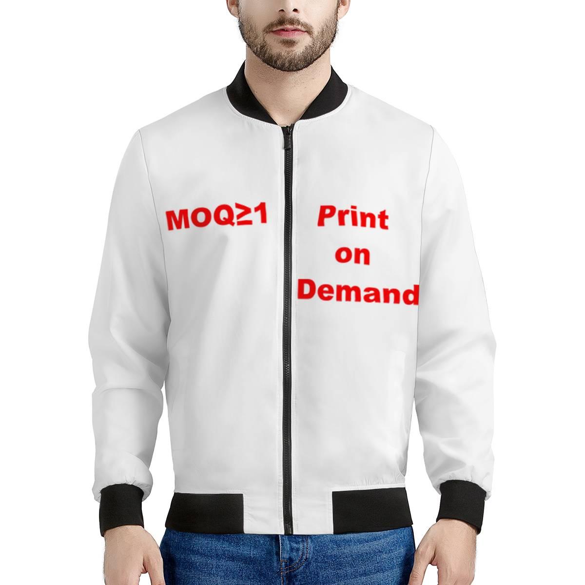 Vestes et manteaux personnalisés pour hommes   Blouson bombardier de grande taille pour hommes, jetons de pommes de terre imprimés sur demande pour hiver