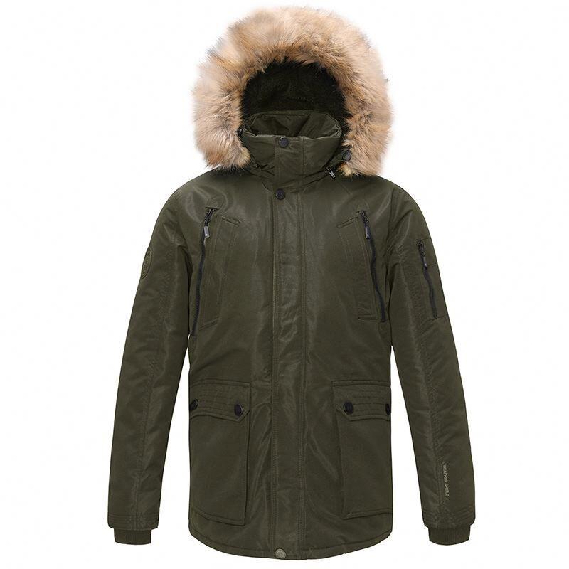Manteau de veste épais en fausse fourrure   Manteau d'hiver chaud, doublure de Parka, bouffante avec capuche amovible, livraison gratuite