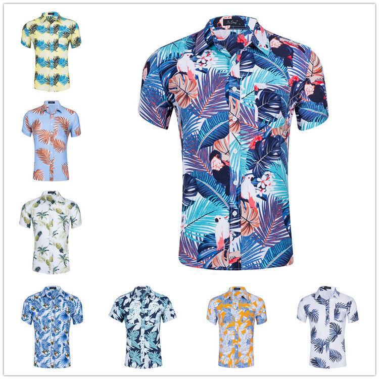 Chemises de plage à manches courtes   Nouveau design, prix en gros, chemises de plage en coton écologique pour hommes