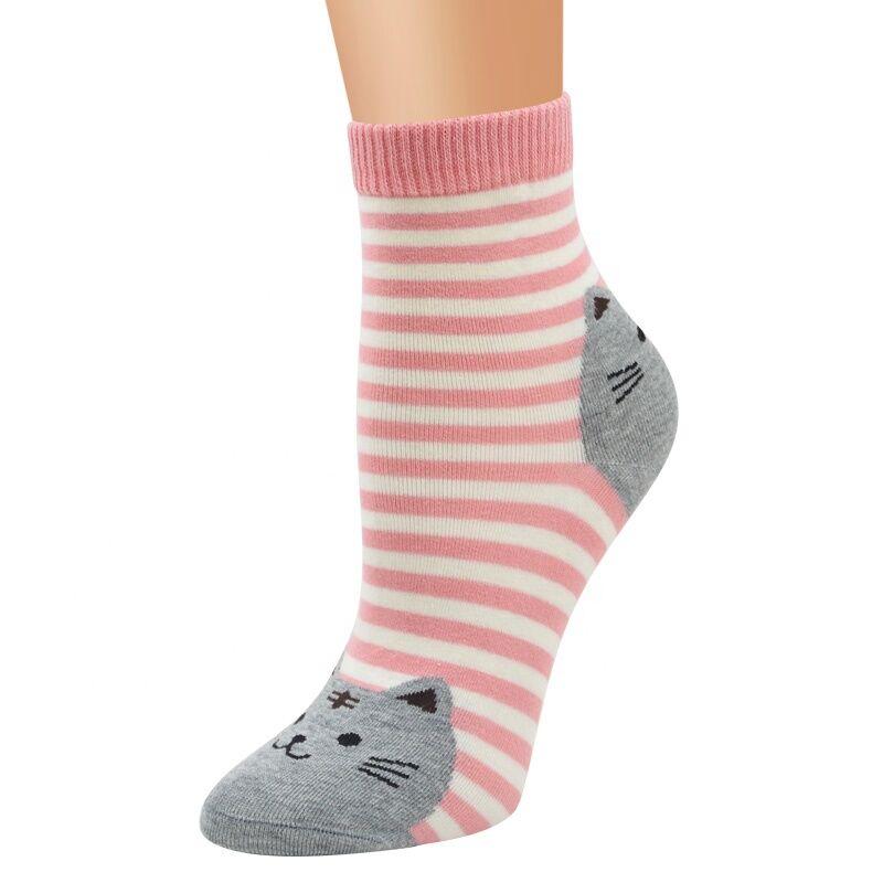 Drôle coton femmes chaussettes mer design lumineux respirant rayures chaussettes font vos propres chaussettes de haute qualité pas cher