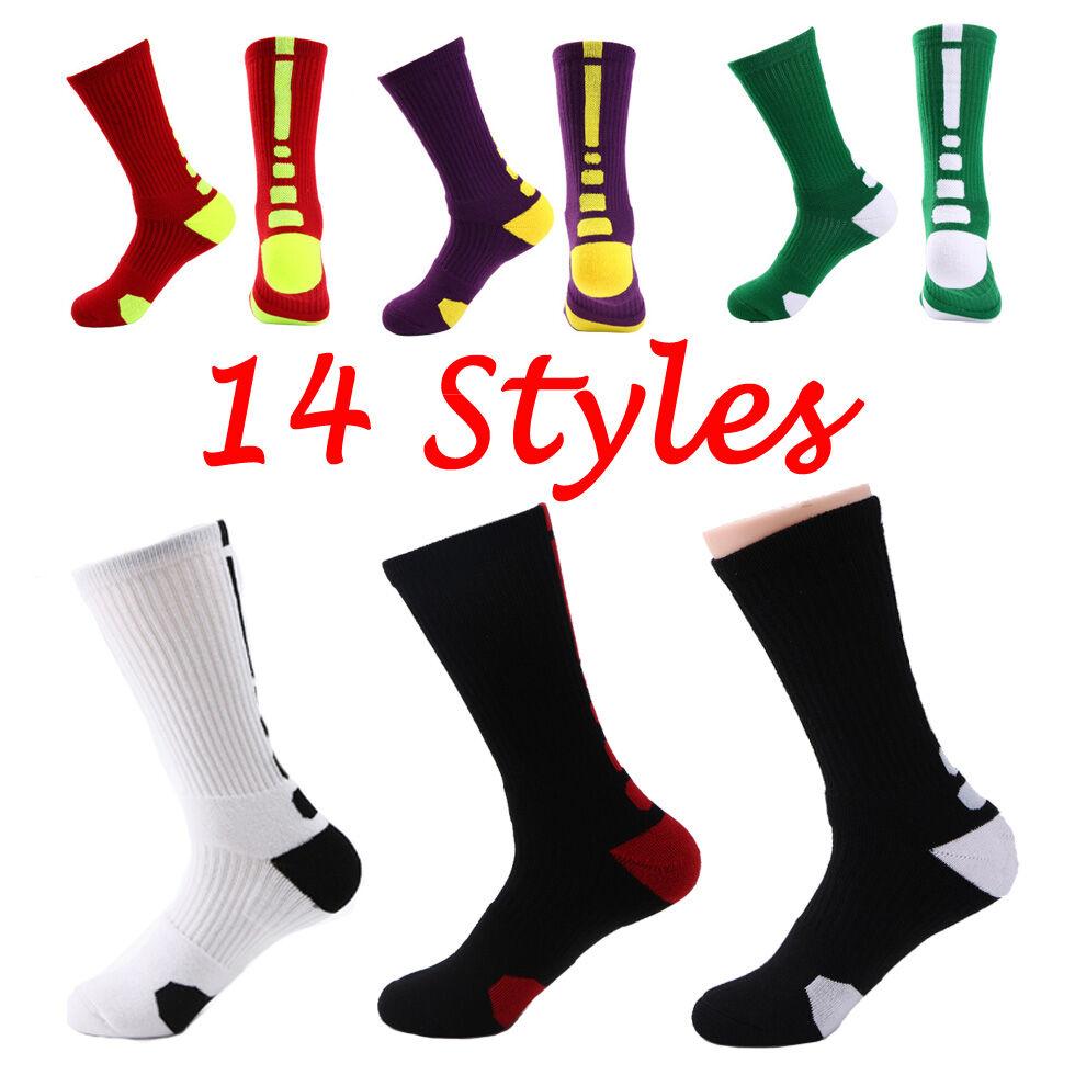 14 Styles Solide Élastique Hommes Compression Chaussettes Coton Respirant Professionnel Serviette Bas Chaussettes Longues Livraison Gratuite