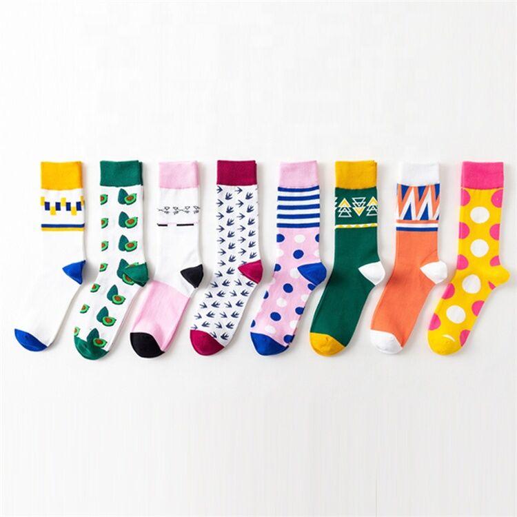 Quayee En Gros logo Personnalisé coton ins ai chaussettes femmes
