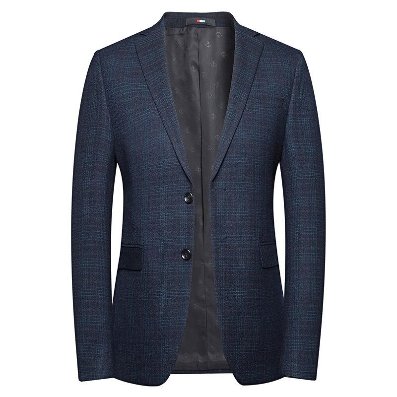 En vrac en gros vêtements 70% Polyester 30% Viscose tissu Deux boutons cher blazer costume