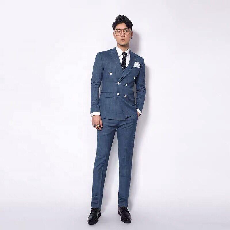 En gros pas cher personnalisé Hommes Costumes De Mariage Costume Homme Slim Fit Hommes costumes Blazer Vestes manteau pantalon hommes costume d'affaires