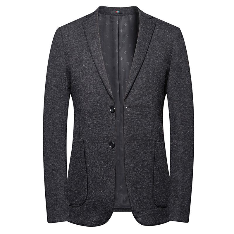 Fait sur commande nouveau design Deux boutons 91.6% Polyester 5.7% Viscose 2.7% spandex tissu noir blazers