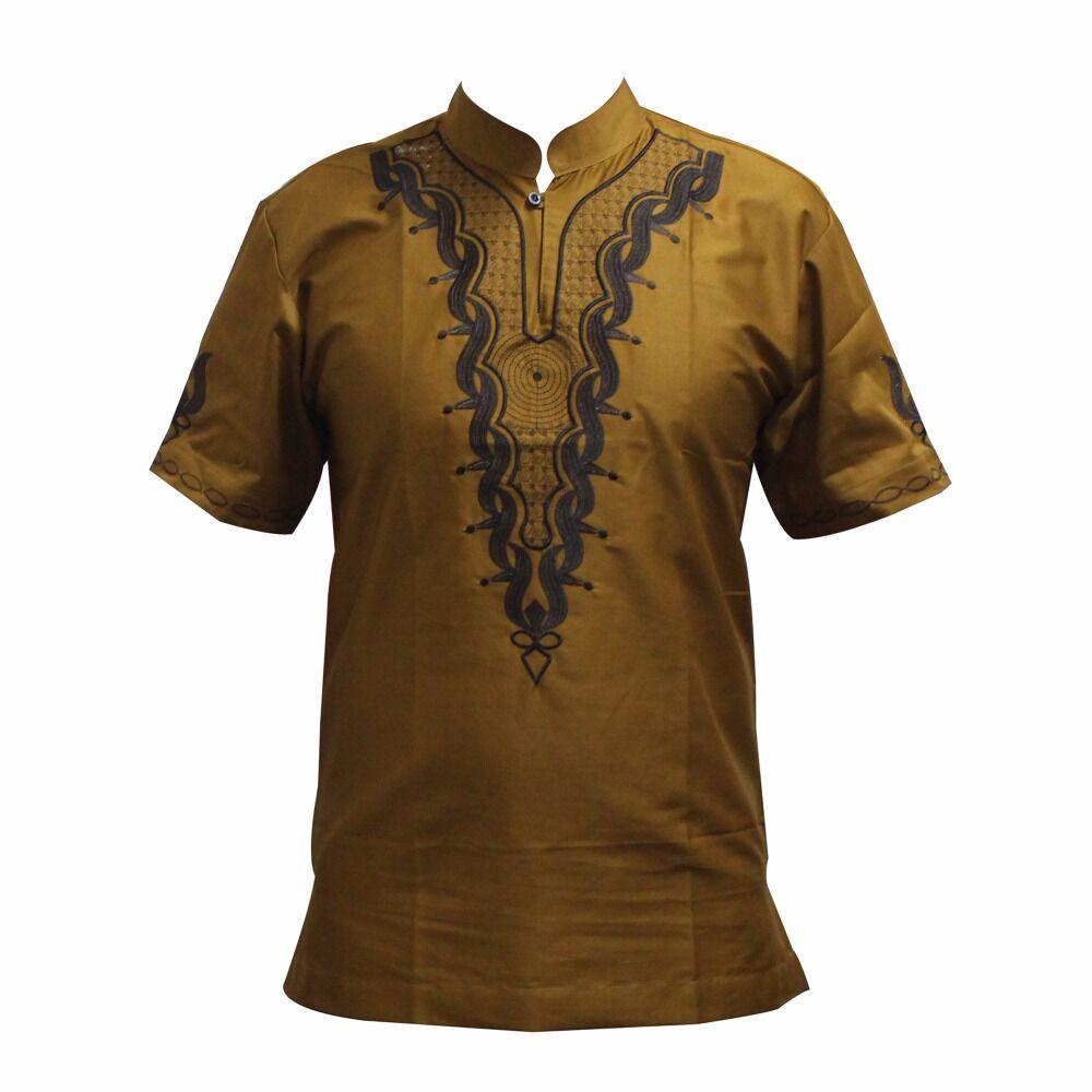Meilleure Vente Hommes Géométrique Brodé bouton T-Shirt