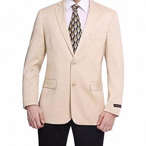 Homme Coupe Moderne à Deux Boutons Blazer Costume Séparé Veste/pull