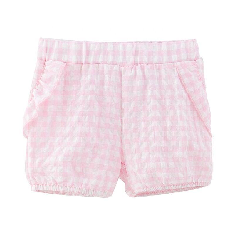 Haute Qualité En Gros Pas Cher Coton Confortable Respirant Écologique Rose Mignon Court Pantalons Enfants Filles Vêtements