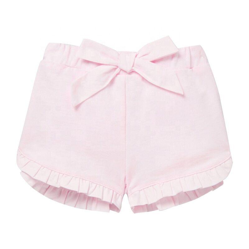 Offre Spéciale Haute Qualité En Gros Pas Cher Coton Respirant Confortable Rose Mignon Pantalon Court Bébé Filles