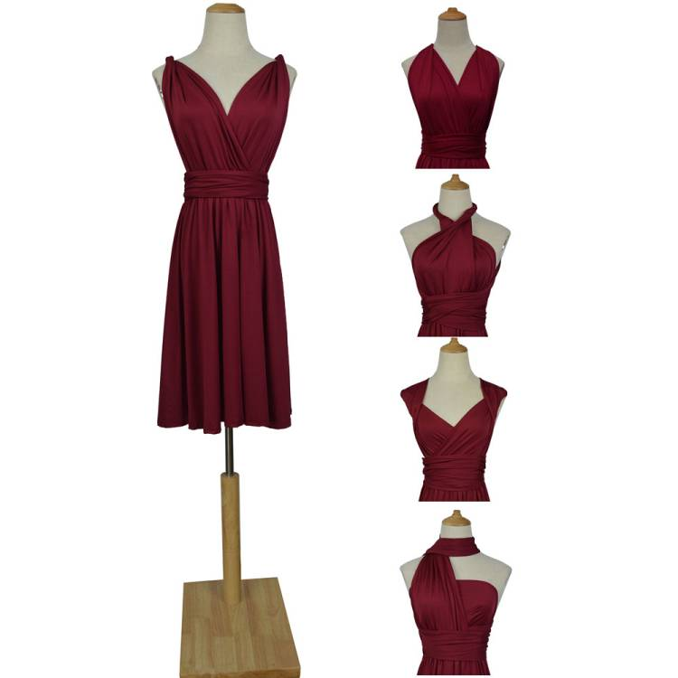 Robe de demoiselle d'honneur   Vêtements multiples, soie de lait, Bandage, taille Pluz, robe ajustable forme de mariage