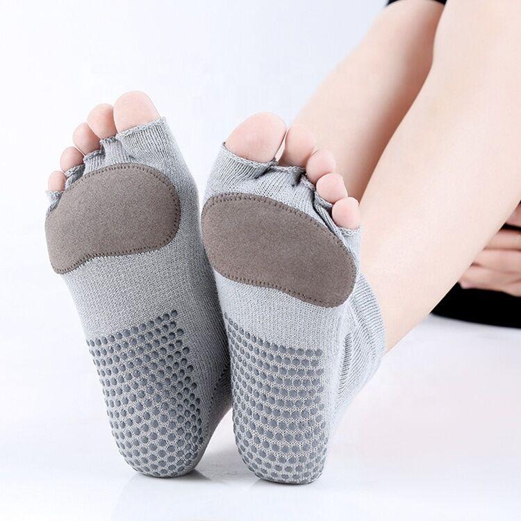 Antidérapant sans tête yoga chaussettes coton yoga chaussettes femmes