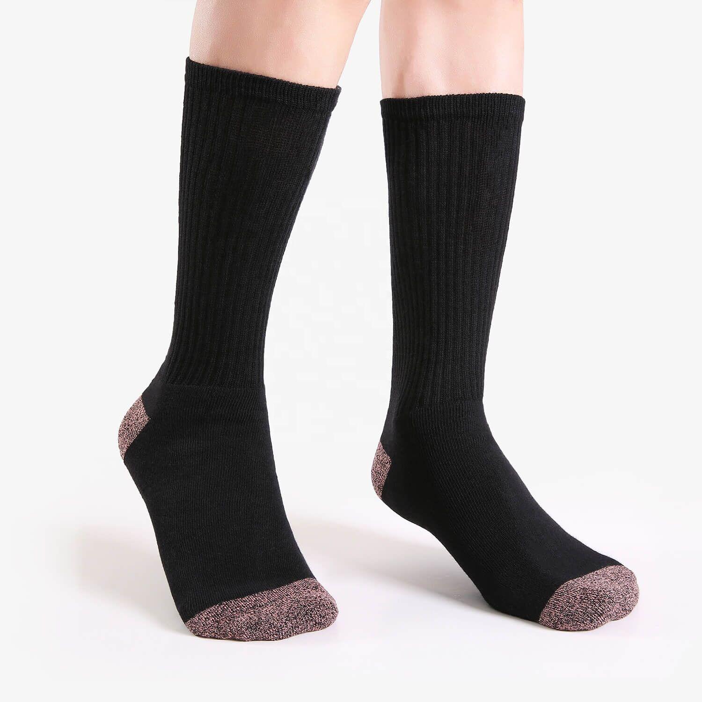 Tricot coton plaine manchette ample travail classique équipage Cycle chaussettes femmes coton doux noir rose couleur unie chaussettes