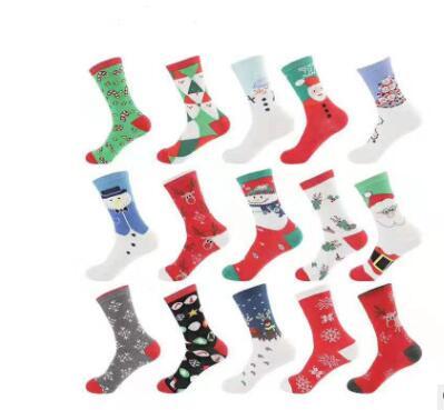 Coton Chaussettes De Noël Femmes & Hommes Nouveau 2019 Automne Hiver Nouvelle Année le Père Noël Arbre De Noël Neige Wapiti Cadeau Heureux chaussettes