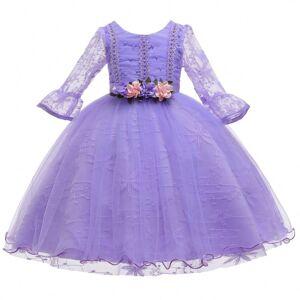 Vêtements Pour Enfants en gros Paillettes Gland Conception Bal Robe Fille 8 Ans Robes De Fille De Fleur - Publicité