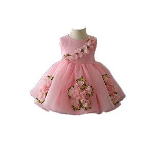 Robe de princesse d'été pour enfants   Jupe pom, robe de fête pour anniversaire de bébé, pleine lune, nouvelle collection 2020 - Publicité