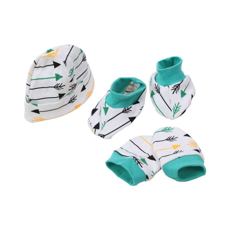 Nouveau modèle de chaussettes 3 en 1   Ensemble cadeau pour nouveau-né, chapeau en coton pour bébé, vente en gros